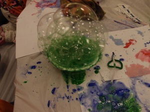 Bubble paint in a bowl